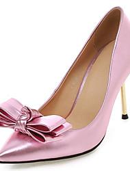 Women's Girl's Heels Spring Summer Fall Winter Leatherette Wedding Dress Party & Evening Stiletto Heel Bowknot Sequin FlowerBlack Pink