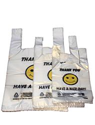 Pe New Material Smile Bags Vest Bag Plastic Shopping Bags