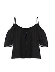 Women's Print Black / Gray Vest , Off Shoulder Sleeveless