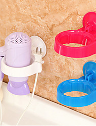 Hairdryer Stand Holder Wall Mounted Shelf Storage Rack (Random Color)