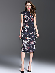 Women's Clothing Style Pattern Silhouette Dress , Neckline Dress Length Fabric