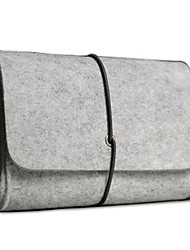 Small Felt Digital Storage Bag for Laptop Accesseries/Mouse/Earphone/Cable Light Gray