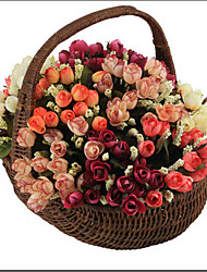 1PC Autumn Bouquet Small Bud Roses Bract  Silk Rose Decorative Flowers Home Decorations Artificial Flowers