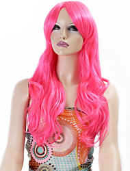 Synthetic Wigs Long Curly Wave Synthetic Hair Pink Color Wigs For Women Cosplay Christmas Wig