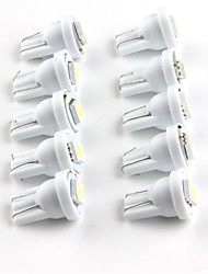 10pcs t10 1SMD 5050 auto led blanche voiture éclairage LED coin conduit lampe automatique (DC12V)