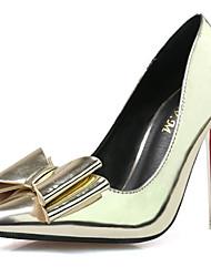 Damen-High Heels-Party & Festivität-PU-Stöckelabsatz-Spitzschuh-Silber / Gold