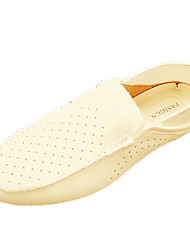 Men's Summer Comfort PU Casual Flat Heel Black Yellow White