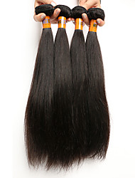 "4 Pcs /Lot 8""-22""8A Brazilian Virgin Hair Straight Human Hair Wefts 100% Unprocessed Brazilian Remy Hair Weaves"