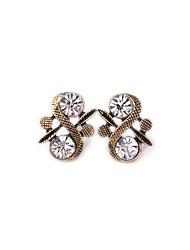 European Style Luxury Gem Geometric Earrrings Stud Earrings for Women Fashion Jewelry Best Gift