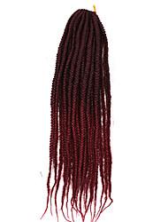 3X Jumbo Box Braids Hair Havana Mambo Twist Kinky Curly Black Blonde Synthetic Braiding Crochet Hair Extension