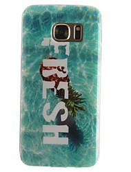 Pour Samsung Galaxy S7 Edge Motif Coque Coque Arrière Coque Fruit Flexible TPU SamsungS7 edge / S7 / S6 edge / S6 / S5 Mini / S5 / S4