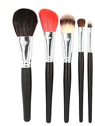 Premium Makeup Brush Set 6pcs Soft Nature Goat Hair Makeup Tools Kit