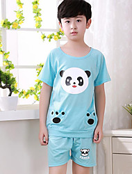 Boy's Polyester Clothing Set,Summer Animal Print