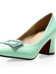 Women's Shoes Leatherette Spring / Summer / Fall Heels Heels Wedding / Party & Evening / Dress /  Green /