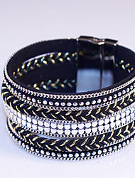 New 2016 Bracelets For Women Fashion Jewelry With High-Grade Leather Chain Suction Automatically Magnetic #YMG1089