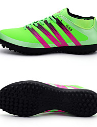 Adult / Children Unisex Shoes Synthetic Athletic Shoes Soccer Break Nail Lacing Black / Green / Blue