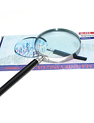 Handheld 4X 90mm Metal Round Glass Magnifier