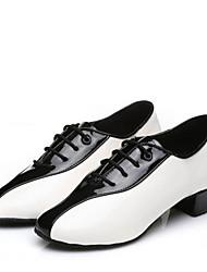 Men's Dance Shoes  Latin /International Dance/ Modern Sneakers Low Heel Indoor / Performance  Shoes Black / White