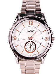 Men's Fashion Watch Casual Watch Quartz Stainless Steel Band Silver