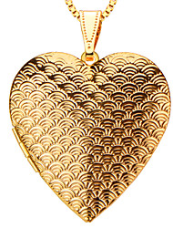 Heart Box Pendant Locket  Jewelry 18K Gold Plated  Pendant Necklace Wholesale P30035