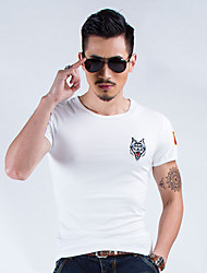 Others Men's Soft Leisure Sports Tops / T-shirt White / Black