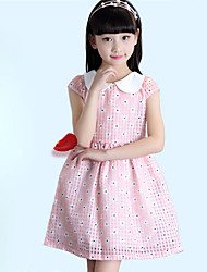 Girl's Cotton Sweet Loveliness Flower Striking Floral Print Princess Dress