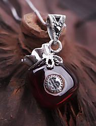1 conjuntos de estilo popular de moda granada s925 pingente colar