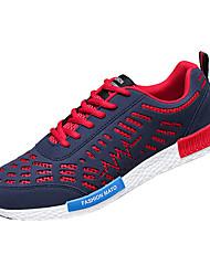 sapatos masculinos pu sapatilhas da forma ocasional executando outros salto planas azul / cinza / preto e branco