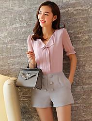 Услуга UP® Женский V-образный вырез 1/2 Длина рукава Рубашка и Блузка Красный-XFS16180