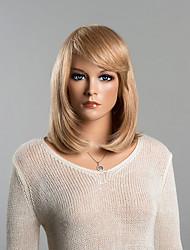 magnifique moyen perruque de cheveux soyeux humain pour les femmes