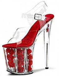20cm super high heels Club Women's Shoes Transparent PVC / Platform Heels / Sandals Wedding / Party & Evening / Dress Stiletto Heel