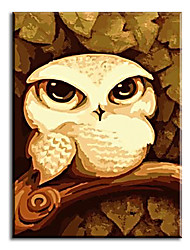 Home Decor Pictures Hand Painted Oil Paintings Cute Animal For Bedroom Wall Art with Stretched Frame Ready to Hang