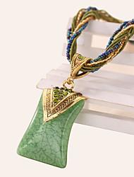 Necklace Pendant Necklaces Jewelry Daily / Casual Vintage Alloy / Acrylic / RhinestoneDark Blue / Black / Yellow / Red / Blue / Orange /