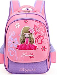 Women Nylon Casual Backpack Pink / Purple / Fuchsia