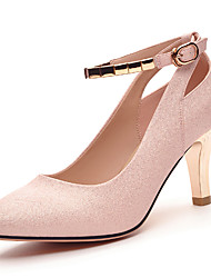Women's Shoes Glitter Spring/Summer/Fall Heels Office & Career/Party & Evening Stiletto Sparkling Glitter Silver/Beige