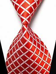 New Red plaid Men's Tie Formal Suit Necktie Wedding Holiday Gift TIE0017