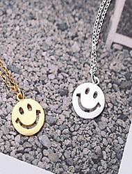 Alloy Smile Shape Pendant Necklace(Gold/Silver)