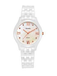 Semdu® Fashion Ceramic Japan Movement Women Wrist Watch  Multi-color Shell Dial Novetly Watch
