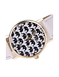 Women's Fashion Watch Casual Watch Casual Watch Quartz Japanese Quartz Leather Band Black White Brown Multi-Colored