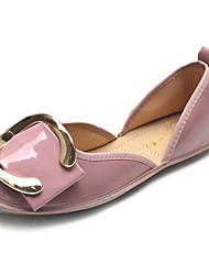 Women's Flats Summer Flats PU Casual Flat Heel Buckle Black / Pink / Gray Others