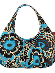 Women Canvas Formal Tote Blue / Yellow