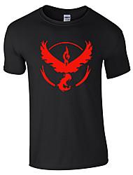 Inspirado por Pocket Monster Pequeño monstruo Vídeo Juego Disfraces Cosplay Cosplay de la camiseta Estampado / Geométrico NegroManga