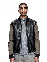 KON® Men's V Neck Long Sleeve Jackets Black-K14M-OW0068