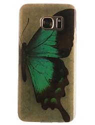Pour Samsung Galaxy S7 Edge Motif Coque Coque Arrière Coque Papillon Flexible PUT pour SamsungS7 edge S7 S6 edge S6 S5 Mini S5 S4 Mini S4