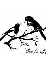 Fashion The Magpie Pattern PVC Bathroom or Bedroom or Glass Wall Sticker Home Decor