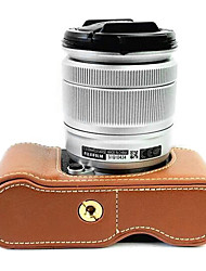Fujifilm Camera XM1/X-A2 Leather Protective Half Case/Bag