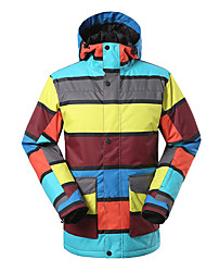 Gsou snow color stripe ski jackets/ snowboard/double snowboard jackets /men male windproof waterproof ski-wear