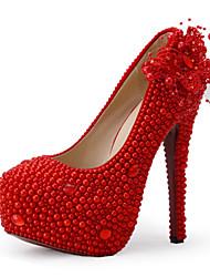 Women's Shoes Stiletto Heel Heels Heels Wedding / Party & Evening / Dress Red