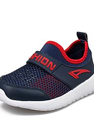 Garçon-Décontracté-Bleu / Blanc-Talon Plat-Bout Arrondi-Sneakers-Tulle