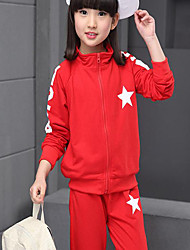 Girl Cotton Hoodie & Sweatshirt,Spring / Fall ¾ Sleeve